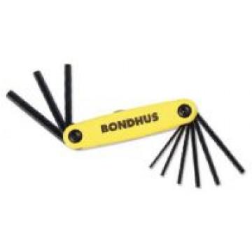 Bondhus 12591 GorillaGrip Set of 9 Hex sizes .050-3/16